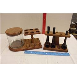 Pair Of Pipe Holders, Humidor, 3 Pipes