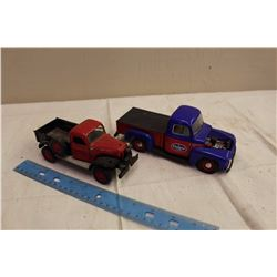 Pair Of Metal Toy Trucks,