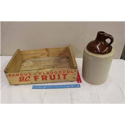 BC Fruits Wood Box W/ Jug