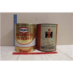 Pair Of Vintage Anti-Freeze Pails (IH And Texaco)