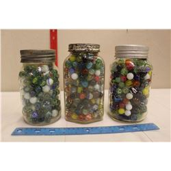 Jars(3) Filled w/Buttons