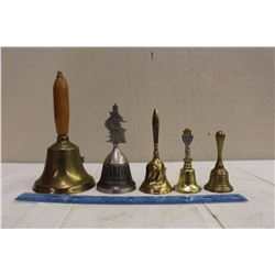 Vintage Brass Bells, (5, 1 School)