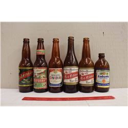 Vintage Beer Bottles (6) (Red Ribbon, Sask, Molson Canadian, Labatts, Bohemian, Philsner, Molsons