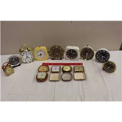 Antique And Vintage Wind Clocks, (13) Lots Of Westclox