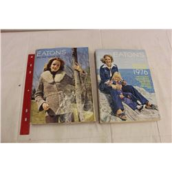 Pair Of Eatons Catalogues (1975 Fall And Winter And 1976 Spring And Summer)