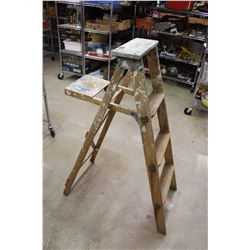 "Small Wooden Ladder (45"" Tall)"