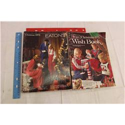Pair Of 1975 Sears And Eatons Christmas Catalogs