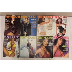 Lot Of Vintage Penthouse Magazines (1980)(Jan, Feb, Mar, Apr, May, Jun, Aug, Dec)