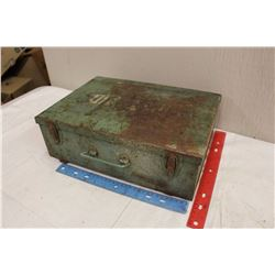 Metal First Aid Box w/Misc Contents