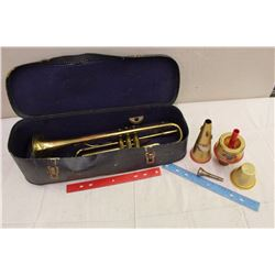 Vintage Trumpet With Case (Minerva)