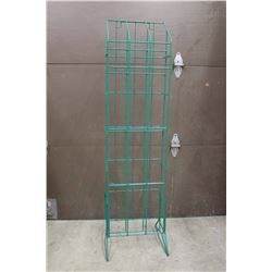 "Green Wired Display Rack (59""x16""x16"")"