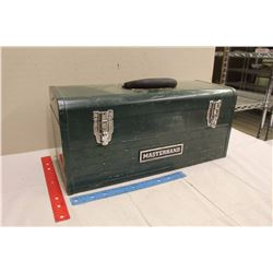 Metal Masterhand Tool Box w/A Full Set of Socket Wrenches