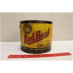 Red Head 10lb Grease Tin