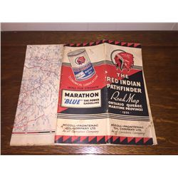 Red Indian Road Map 1940s