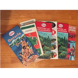Lot of 8 Advertising Road Maps (Esso,Gulf,Home,Etc)