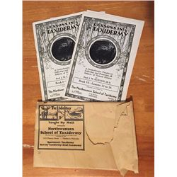 1930s Lessons In Taxidermy(8 Books&Original Envelope)