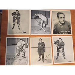 """Lot Of 6 Quaker Oat Hockey Photos Montreal Canadiens And Toronto Maple Leafs(8""""x10"""")"""