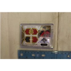 Aaron Ekblad The Cup Jersey Card Autographed Numbered 11/15