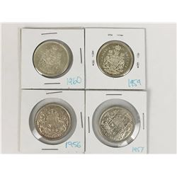 Canada 50 Cent Silver Coins (4)