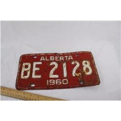 1960 Alberta Licence Plate