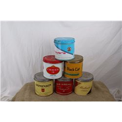 Lot of Tobacco Tins (6)