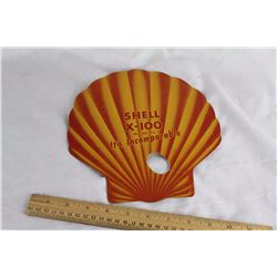 Vintage Shell Paper Advertising Hand Fan
