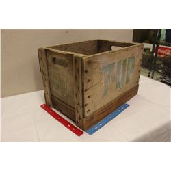 "7-Up Wooden Crate(18""x12""x12"")(Marked Saskatchewan)"