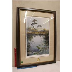"Ducks Unlimited Print ""On The Wing"" (By Andrew Kiss)(38""x27"")"