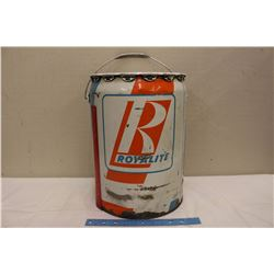 5 Gallon Royalite Oil Pail (Empty)
