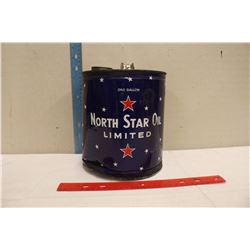 1 Gallon North Star Oil Tin (Empty)
