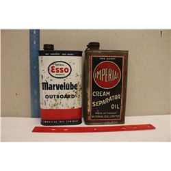 1 Quart Oil Tins (2)(Esso& Imperial)