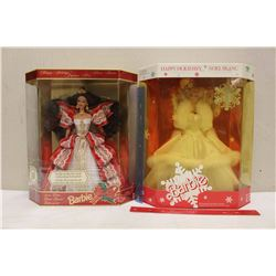 Happy Holiday Special Edition Barbie Dolls (2)(1989,1997)(NIB)