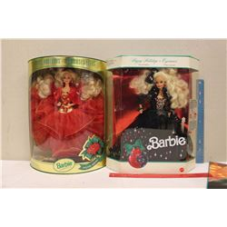Happy Holiday Special Edition Barbie Dolls (2)(1991,1993)(NIB)