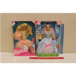 1991 Sparkle Eyes Barbie& A 1998 Sleeping Beauty Barbie (Both NIB)