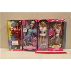 Lot of Sporty Related Barbie Dolls (4)(1995, 1996, 1998, 2000)