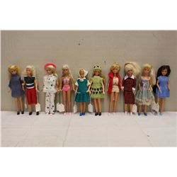 Lot of 1980's Skipper Mattel Dolls (10)