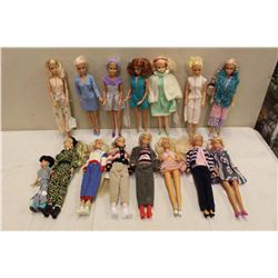 Lot of 1980's Barbie Dolls (15)(Some w/Stands)