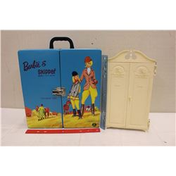 Plastic Barbie Closet and A Barbie&Skipper Carrying Case
