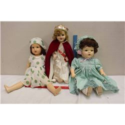 1934 Flossie Flirt Ideal Doll, 1941&1953 Reliable Dolls(Princess Elizabeth&Eaton's Beauty)