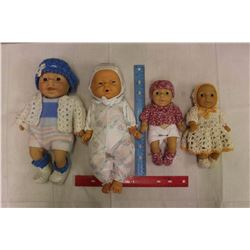 Lot of Newborn Baby Dolls (4)