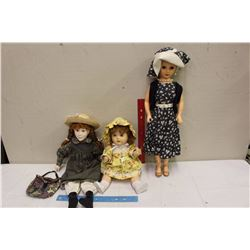 1941 Reliable Toddles Doll, 1958 Ideal Mrs Revlon Doll&A 1989 Irwin Anne Doll
