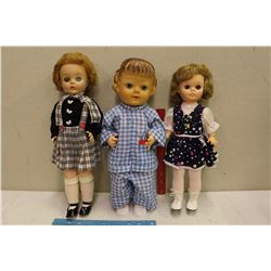 1957 Reliable Baby Bubbles Doll, 1974 Regal Karen Magnusson Doll&An Unknown Doll