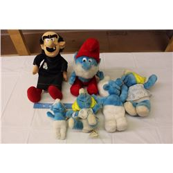 Vintage Stuffed Peyo Wallace&Berries Smurfs