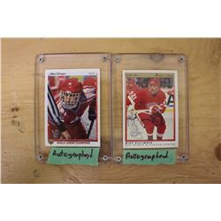 Mike Sillinger Autographed Hockey Cards (2)(O-Pee-Chee& Upper Deck)