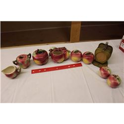 Lot of Apple Related Dishware