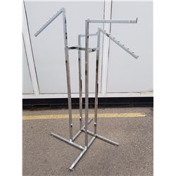 4 Arm Metal Clothes Rack (Adjustable)
