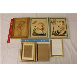 3D Style Pictures In Frames (3) W/ Frames