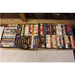 4 Boxes of VHS Movies