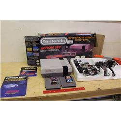 Nintendo Entertainment System, Action Set W/ Extras (2 Controllers, Zapper, Power Cord, Mike Tysons