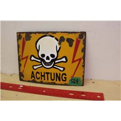 German Porcelain  Achtung  Sign